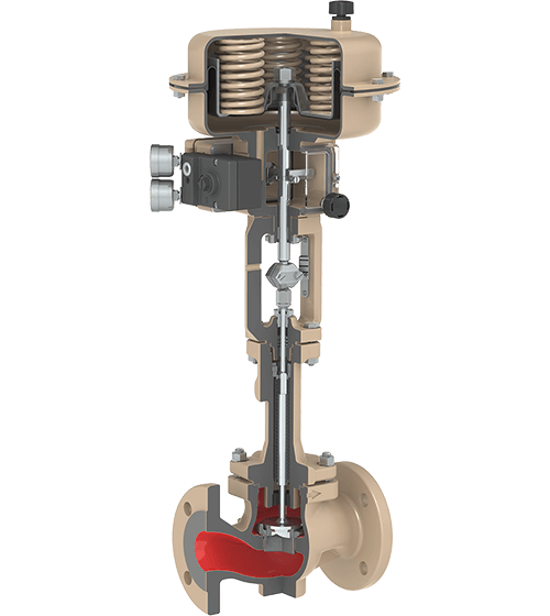 Globe control valves and on/off valves